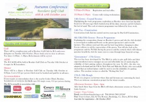 Autumn Conference Brochure